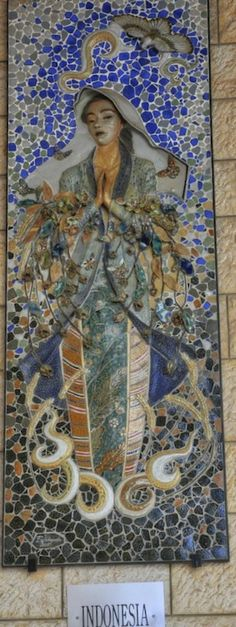 Indonesian Virgin Mary at the Basilica of Annunciation in Nazareth http://www.trailheadstudios.com/blog.html