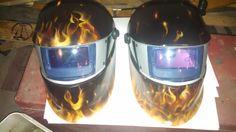 Welding helmet s by BurntOutCreations