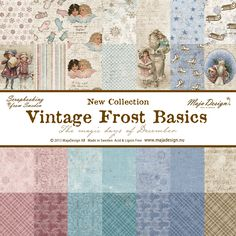 The Rubber Buggy  - Maja Designs 12 x 12 - Vintage Frost Basics Collection Pack…
