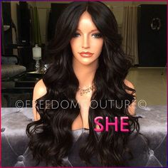 Find More Synthetic Wigs Information about FREE SHIPPING synthetic lace front wig body wave Glueless Black wig 1B Heat Resistant Hair Wigs for black women,High Quality Synthetic Wigs from SHE Lady House on Aliexpress.com