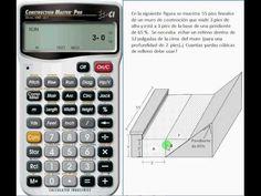 Materiales de Construcción - Cálculo de Cantidad Necesaria de Material en una Construcción con la Calculadora Construction Master Pro