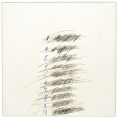 Cy Twombly  Letter of Resignation (detail), 1959-67