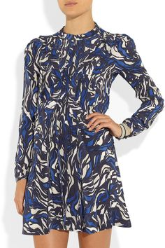 Isabel Marant Salvia printed silk dressfront.. have wanted this dress for so long and now they don't have my size