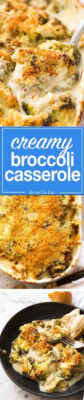 Creamy Parmesan Garlic Broccoli Casserole - Tender broccoli smothered in a creamy garlic parmesan sauce, made from scratch! Creamy Parmesan Garlic Broccoli Casserole Rosemary Reager pozeerozee Food (All Recipes) Creamy Parmesan Garlic Broccoli Cass Garlic Broccoli, Broccoli Recipes, Garlic Parmesan, Parmesan Sauce, Vegetable Recipes, Vegetarian Recipes, Cooking Recipes, Broccoli Slaw, Chicken Parmesean Casserole