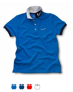 Vespa polo shirt #Vespa #scooter #garment #shirt #blue