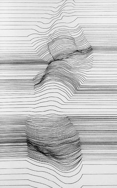 Playing with lines and figure drawing. Alexi K, Cognitive Polygraph (Woman Disrobing), 2013 (Pen & Ink)
