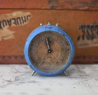 French Blue antique clock
