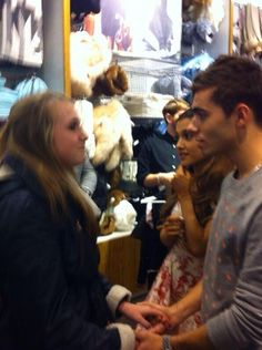 (1) Ariana Grande & Nathan Sykes at Top Shop with Fans in London 10/10/2013.