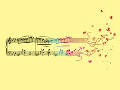 Music Tattoo Idea, maybe something darker fluttering though... not so much butterflies