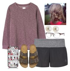"""""""I am so lazy lol"""" by kierstinmoyers ❤ liked on Polyvore featuring RVCA, adidas, Birkenstock, Sperry, Kate Spade and J.Crew"""