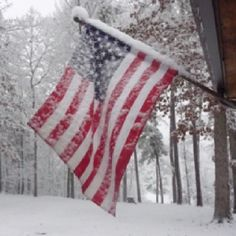 A flag in the snow for you.