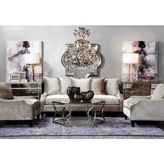 Chic Home Decor Ideas Glamorous Living Room, Purple Living Room, Lantern Decor Living, Apartment Living Room, Room Inspiration, Glamour Living Room, Luxury Living Room Inspiration, Living Room Decor Modern, Chic Home Decor