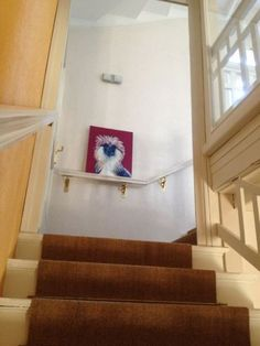 We love to live with art and the best canvas for art display in my eyes are white walls. Sure, I have been down the accent wall road and we do have some accent walls in our home right now. Best Canvas, White Walls, Stairs, Home Decor, Art, Off White Walls, Art Background, Stairway, Decoration Home