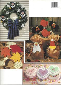 Holiday Garlands In Plastic Canvas Leisure by KnitKnacksCreations