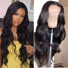 Lace Closure Wigs Body Wave Lace Front Wigs Human Hair With Baby Hair Density Body Wave Wigs For Black Women Natural Color body wave) Human Hair Lace Wigs, Remy Human Hair, Human Hair Wigs, Remy Wigs, Coco Hair, Body Wave Wig, Wigs For Black Women, White Women, Hair Piece