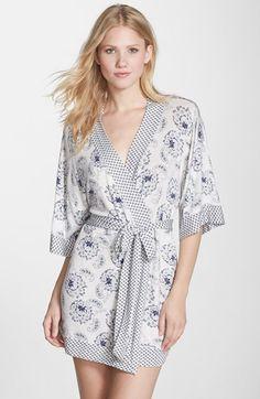 Eberjey+Print+Kimono+Short+Robe+available+at+#Nordstrom