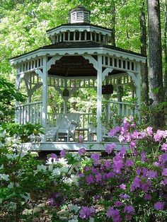 Gazebo in a garden adds a serene look and gives a beautiful place to enjoy nature