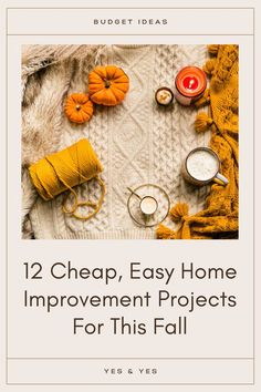 Want to make your home lovely and cozy this fall? Read on for 12 renter-friendly home improvement projects you can do in a weekend, without breaking the bank. Project Yourself, Make It Yourself, Cheap Apartment, Diy Home Repair, You Better Work, Home Repairs, Mindful Living, Diy Cleaning Products, Life Advice