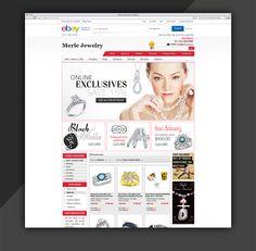 Graceful ebay Storefront and Listing Template design  Kindly visit our website: http://www.estore-services.com/ebay-store-designs.html