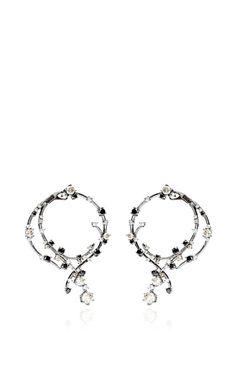 Black And White Diamond Earrings by Bochic for Preorder on Moda Operandi