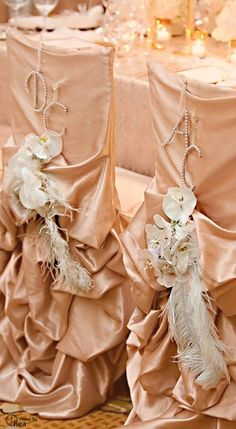 Wedding ● Chair Décor ● Rose Gold- Via ~LadyLuxury~