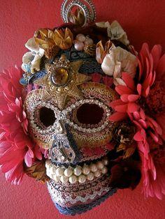 Bonita en Rosa DAY of the DEAD Sugar Skull MASK Wall Art Home Decor