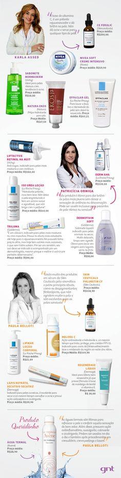 Dermatologistas das famosas indicam produtos infalíveis!