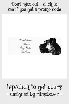 Boxer Dog Address Label - tap to personalize and get yours #boxer #dog #address #label #shipping