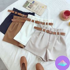 Women's Summer Shorts is a comfortable product, that offers you a very simple design in an elegant way. Women's Summer Shorts which's more attractive with belt in waist area, has five different color options. Belted Shorts, High Waisted Shorts, Casual Shorts, Sexy Shorts, Short Outfits, Summer Outfits, Cute Outfits, Summer Shorts, Summer Clothes