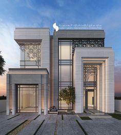 Best house designs architecture: 500 m private villa kuwait sarah sadeq arc Architecture Design, Islamic Architecture, Facade Design, Residential Architecture, Exterior Design, Modern Villa Design, House Front Design, Facade House, Modern Exterior