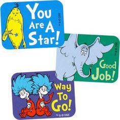 Dr. Seuss Success Stickers, $1.99