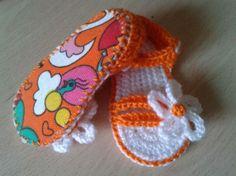 sandalias para bebe con suela decorativa