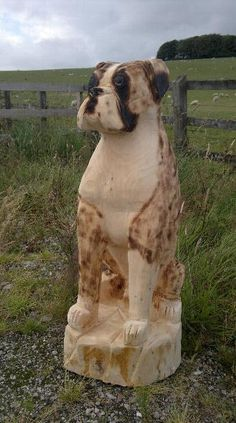 chainsaw carving dog - Google Search