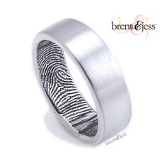 His ring your fingerprint! How romantic! I want this!! Fingerprint ring Sterling Silver Our Original by fabuluster