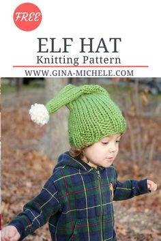 Free knitting pattern for this Elf Hat. Toddler-large child sizes!