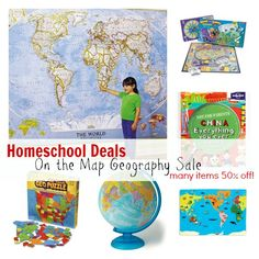 Homeschool Deals: On the Map Geography Sale - many items 50% off!