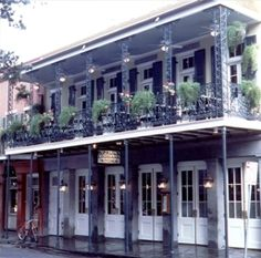{ Blackened Stuffed Pork Chop Marchand de Vin at K-Paul's in New Orleans }