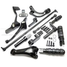 Black Forward Controls Complete Kit with Pegs Levers Linkages for Harley Davidson Sportster 1200XL 2004-2013