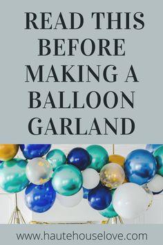Baloon Garland, Diy Garland, Simple Birthday Decorations, Birthday Ideas, Girl Birthday, Diy Party, Party Ideas, Diy Crafts For Adults, Grad Parties