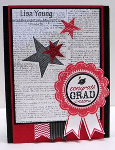 Add Ink and Stamp: Blue Ribbon Graduation