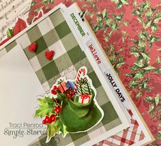 Artsy Albums Scrapbook Album and Page Layout Kits by Traci Penrod: Simple Vintage Christmas Gift Album, Simple Stories Christmas Mini Albums, Christmas Minis, Christmas Paper, Vintage Christmas, Memory Album, Mini Scrapbook Albums, Simple Stories, December Daily, Handmade Gifts