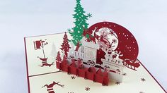 KAILIZ Christmas Eve 3D Pop up Kirigami Christmas Card