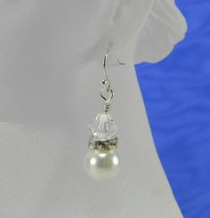 White Pearl Rhinestone and Crystal by ParadiseTreasureCove on Etsy, $18.00