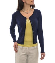 Wool Overs Womens Silk & Cotton Cable Cardigan
