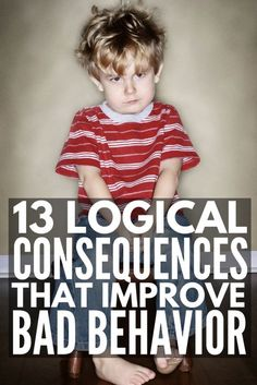 Enforcing logical consequences is a fabulous way for teachers to encourage good classroom behavior and parents to get kids to behave without yelling, and we're sharing 13 logical consequences that actually work! Classroom Behavior, Kids Behavior, Classroom Consequences, Child Behavior Problems, Behavior Charts, Chore Charts, Kids And Parenting, Parenting Hacks, Parenting Plan