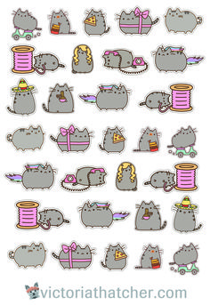 Free Cricut Ready Pusheen Cat printable