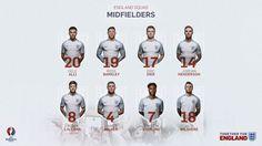 England squad - midfielders