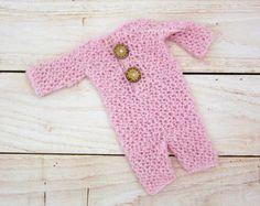 Baby girl overalls  Newborn girl romper Long sleeve romper
