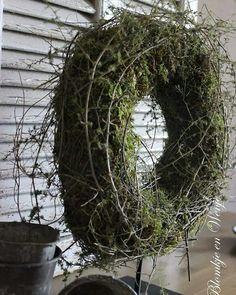 Krans kranz wreath corona stoer landelijk sober