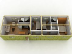 shipping container layout 5 container home